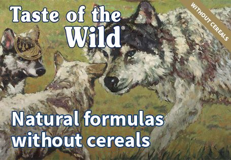 Taste of the Wild, natural formulas without cereals
