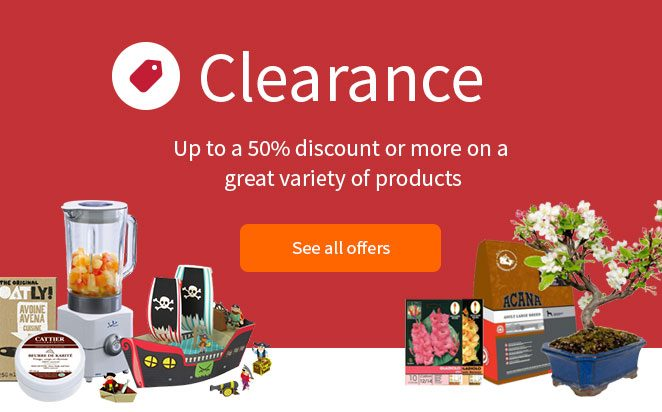 Up to a 50% discount or more on a great variety of products