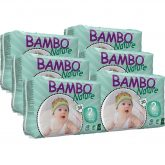 Pack Pañal Bambo mini T2, 3-6Kg, 180ud