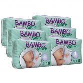Pack Pañal Bambo T1 recién nacido 2-4Kg, 168ud