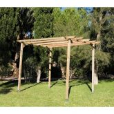 Kit Pérgola Madera Natural - Faura