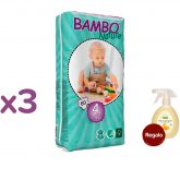 PROMO Pack Pañal Bambo maxi T4, 7-18Kg, 180ud + regalo Limpia superfícies multiusos higienizante Anthyllis Baby