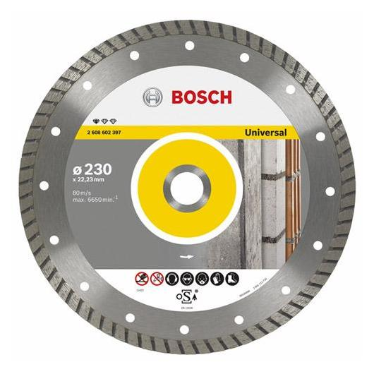 Disco de corte de diamante turbo Bosch para amoladora 125 mm