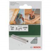 Pack de 1000 grapas Bosch para grapadoras 11.4 x 8 mm