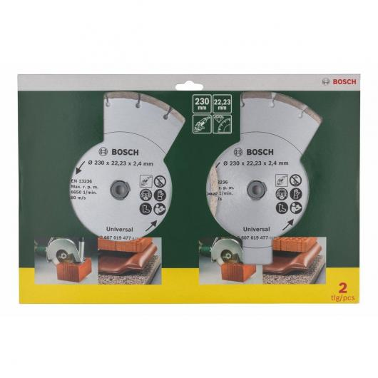 Set di 2 dischi diamantati universali Bosch 230 mm
