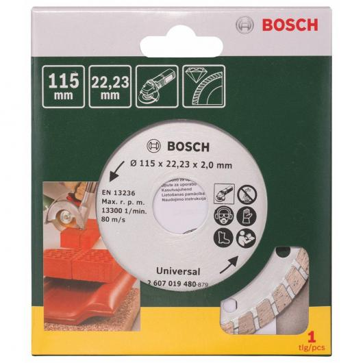 Disque diamant universel Bosch Turbo Promoline 115 mm