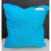 Coussin carré turquoise