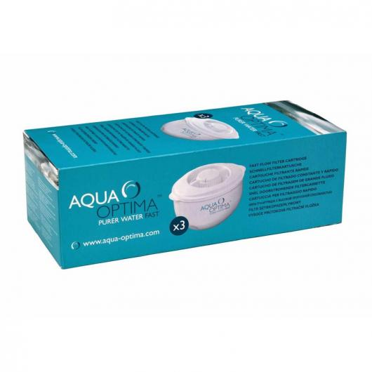 Pack 3 filtres purificateurs d'eau Aqua Optima