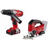Kit Einhell Power X Change Trapano TE-CD 18-2 Li-i + Sega da traforo TE-JS 18 Li