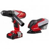 Kit Einhell Power X Change Taladro TE-CD 18-2 Li-i + Multilijadora TE-OS 18 Li