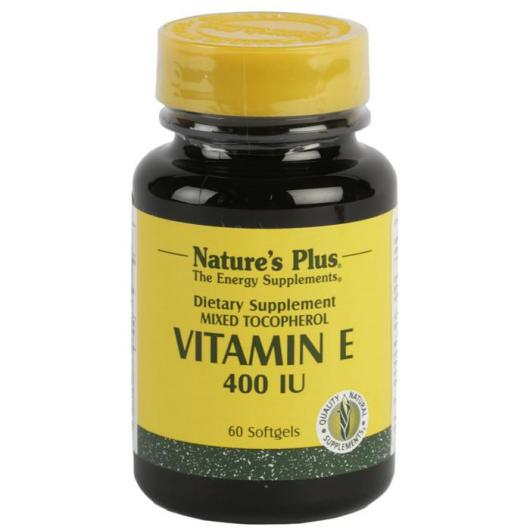 Vitamina E 400 UI Nature's Plus, 60 perlas
