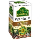 Vitamine D3 Garden Nature's Plus, 60 comprimés