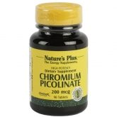 Picolinate de chrome Nature's Plus, 90 comprimés