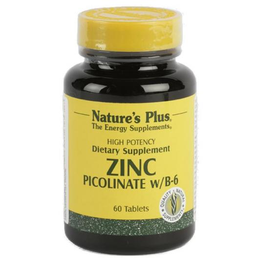 Picolinate de zinc Nature's Plus, 60 comprimés