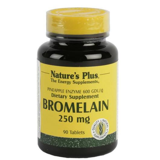 Bromelaina 250 mg Nature's Plus, 90 comprimidos
