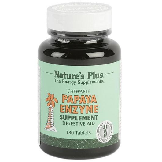 Enzyme de papaye Nature's Plus, 180 comprimés