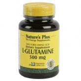 L-Glutamina 500 mg. Nature's Plus, 60 cápsulas