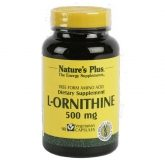 L-Ornitina 500mg Nature's Plus, 90 cápsulas