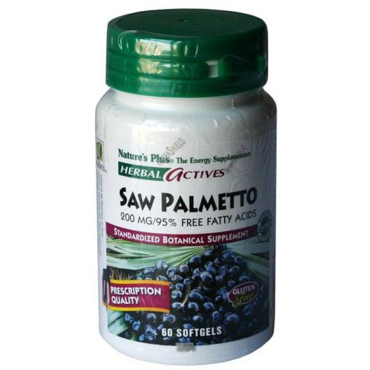 Palmito salvaje (Saw Palmetto) 200mg Nature's Plus, 60 perlas