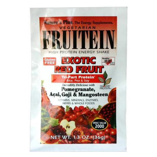 Fruitein Sobre Frutos Rojos Exoticos Nature's Plus, 36 g