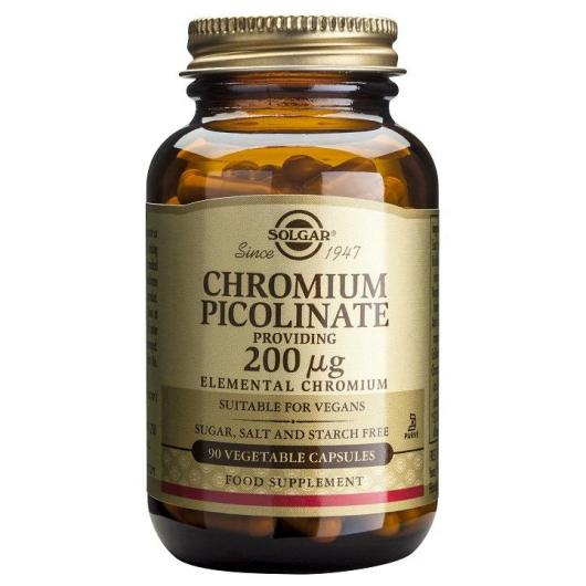 Picolinate de chrome 200 mg, 90 gélules végétales