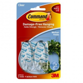 Crochets transparents moyens Command Brand 3M