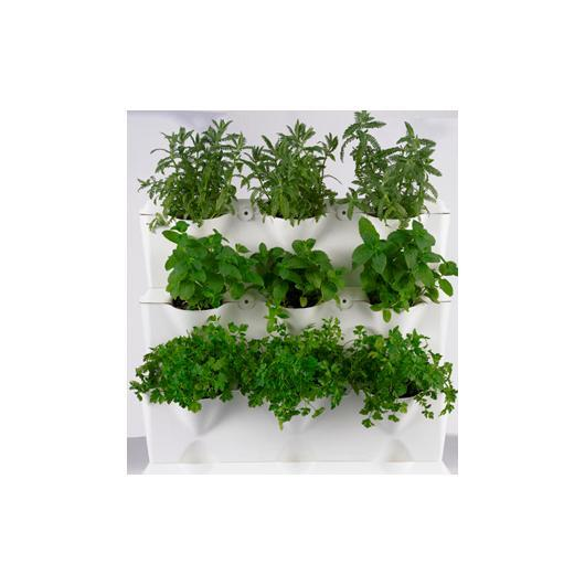 Jard n vertical minigarden blanco en planeta huerto for Plantas artificiales leroy merlin