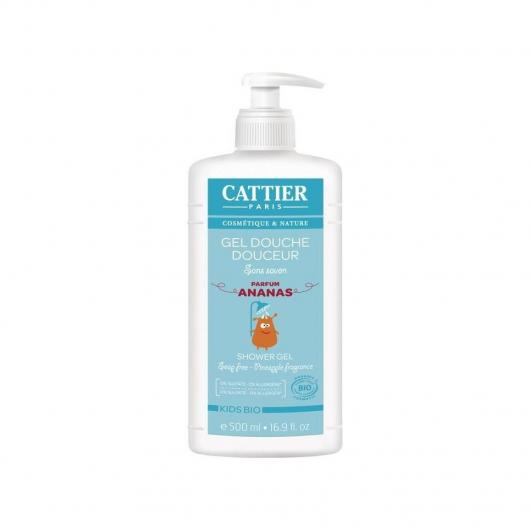 Gel de ducha suave para niños Cattier, 500 ml.