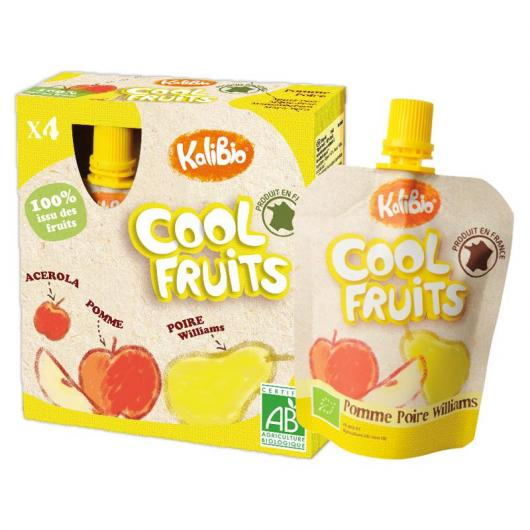 Cool Fruits Manzana y Pera Vitabio,4 x 90 g