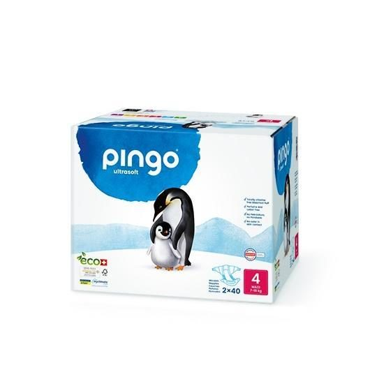 Pack 2x Pañales Pingo T4 (7-18) 40 uds