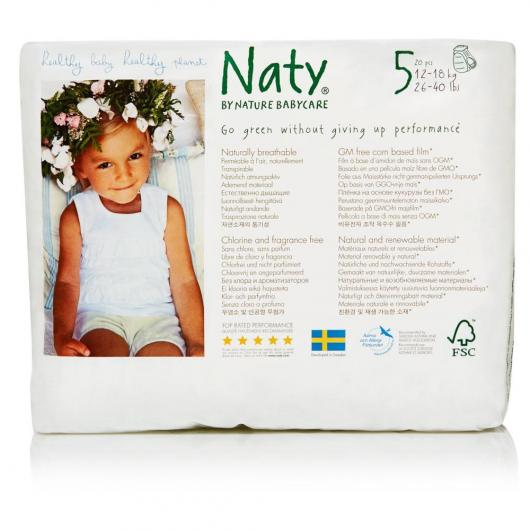 Couches-culottes n°5 Naty 12-18 kg, 20 pièces