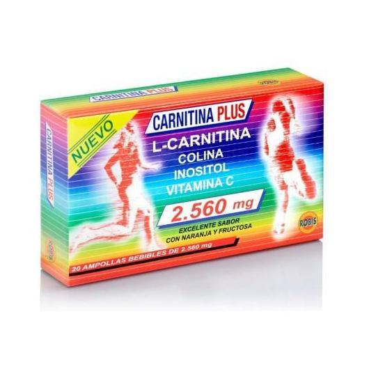 Carnitina Plus 2560 mg Robis, 20 ampollas