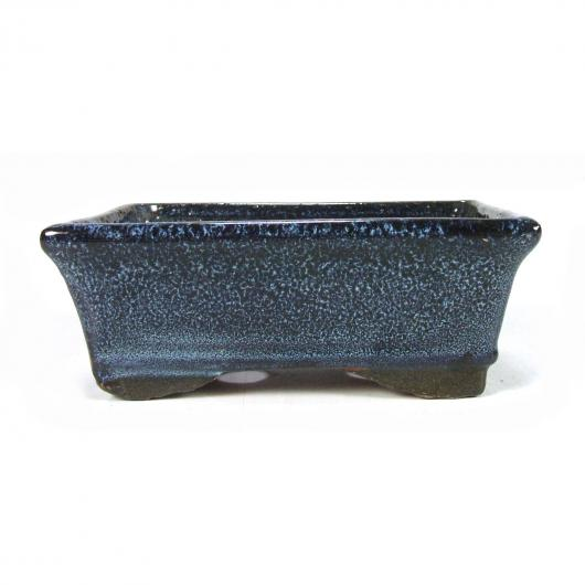 Pot à bonsaï rectangulaire bleu 19 x 12 x 6 cm