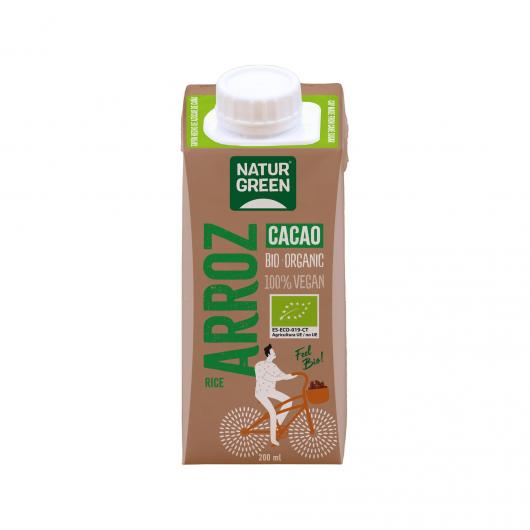 Bebida de Arroz Choco Calcio NaturGreen, 200 ml