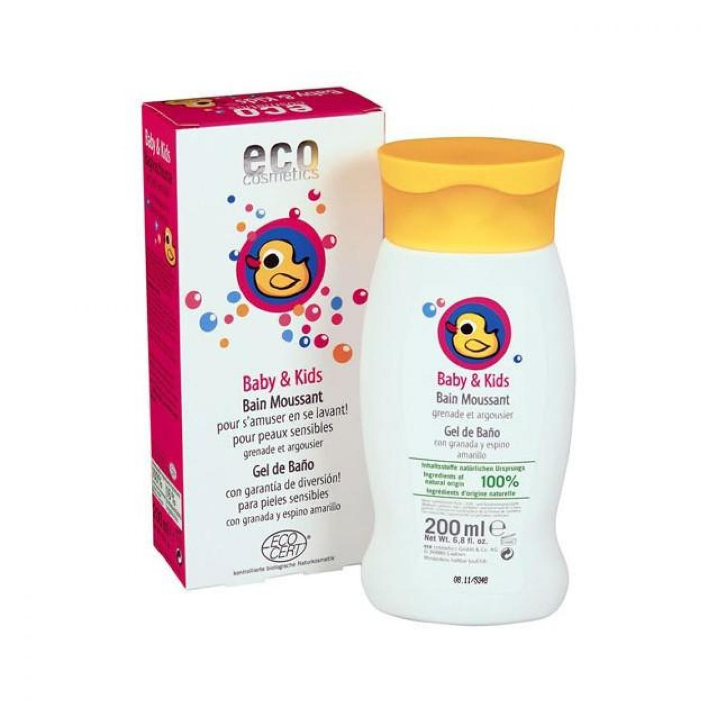 gel de bain pour b b s et enfants ecocosmetics 200 ml sur planeta huerto. Black Bedroom Furniture Sets. Home Design Ideas