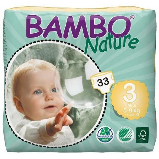 Couches Bambo midi 5-9 kg, 33 pièces