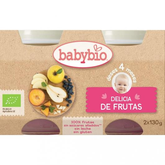 Petit pot délice de fruits Babybio, 2 x 130 g