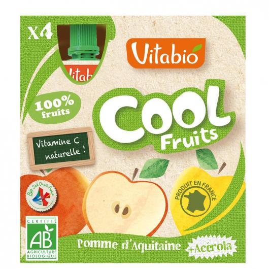 Tarrito Cool Fruits Manzana Vitabio, 4 x 90 g