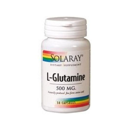 L-Glutamina 500 mg Solaray, 50 cápsulas