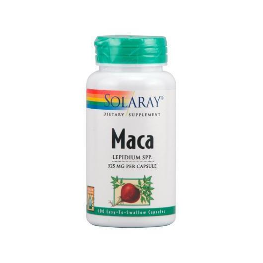 Maca 525 mg Solaray, 100 cápsulas