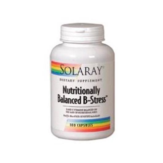 Nutritionally Balanced B stress Solaray, 100 cápsulas