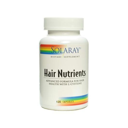 Hair Nutrients Solaray, 120 cápsulas