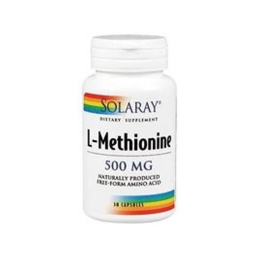 Metionina 500 mg Solaray, 30 cápsulas