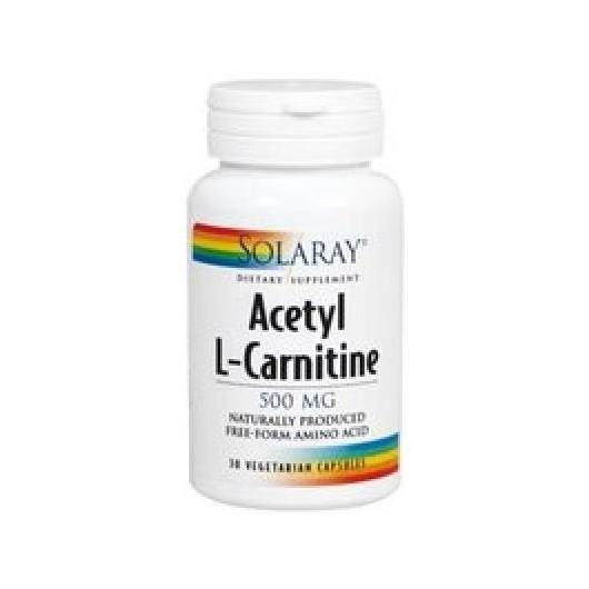 Acetil L-Carnitina 500 mg Solaray, 30 cápsulas