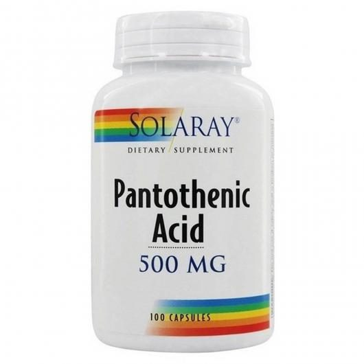 Pantoteniv Acid 500 mg Solaray, 100 capsule