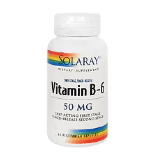 Vitamine B6 50 mg Solaray, 60 capsules