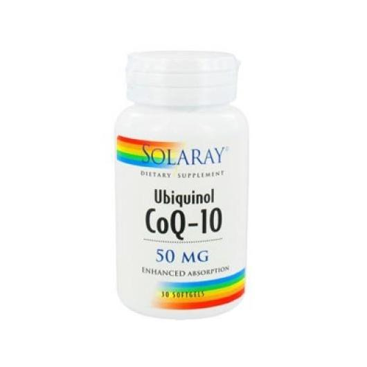 Coenzima Q10 Ubiquinol 50 mg Solaray, 30 compresse