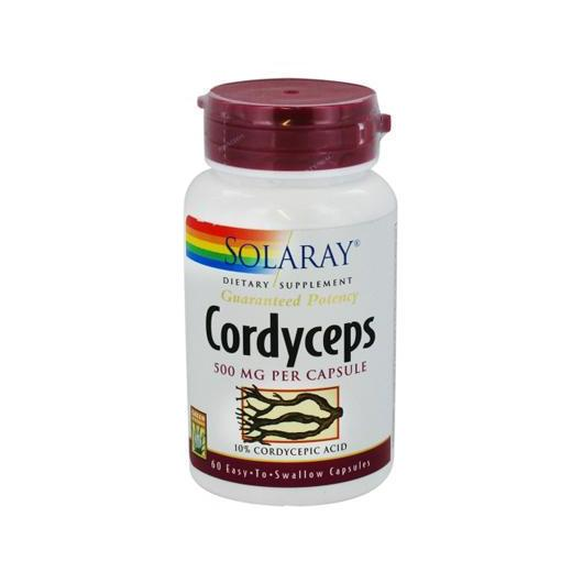 Cordiceps 500 mg Solaray, 60 cápsulas