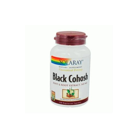 Black Cohosh Cimicifuga 545 mg Solaray, 120 cápsulas