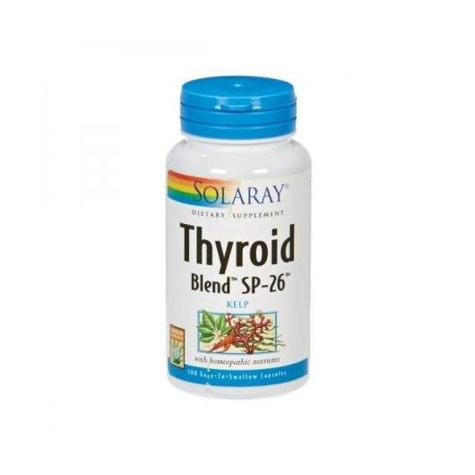 Thyroid Blend Kelp 500 mg Solaray, 100 cápsulas